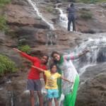 waterfall near picnic spot
